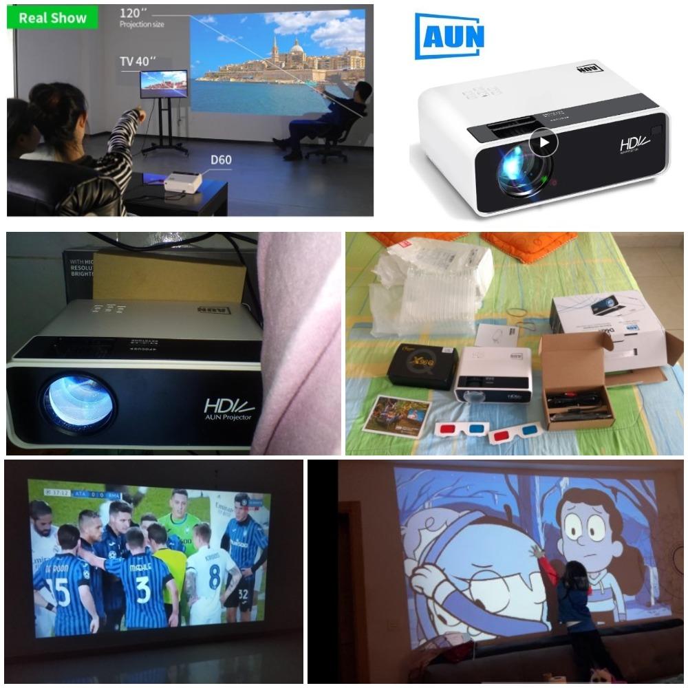 Мини-проектор AUN D60 с Алиэкспресс