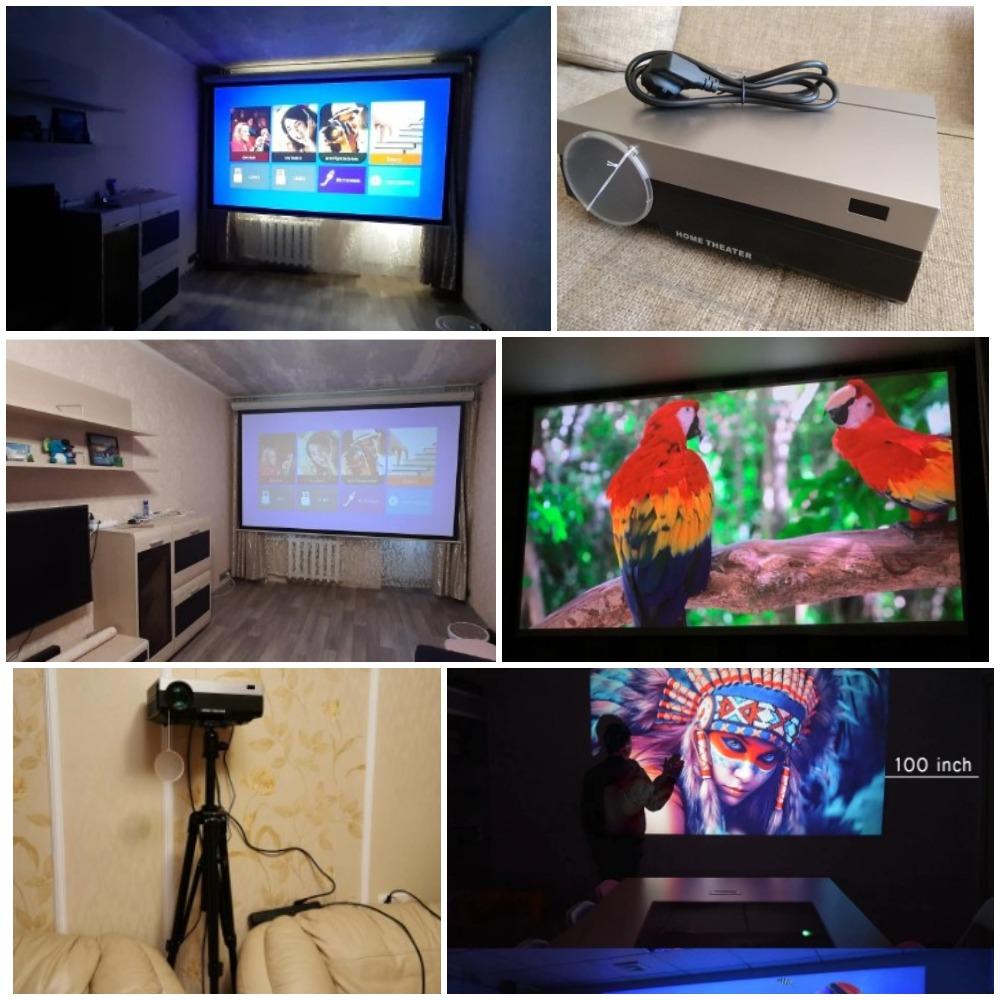 Светодиодный проектор Touyinger T26L T26K с алиэкспресс