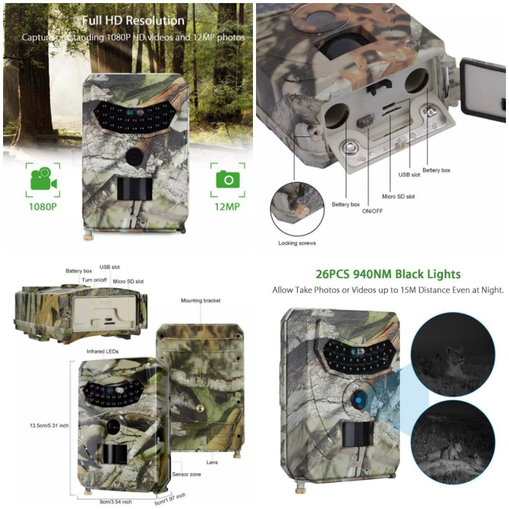 PR100 камера для охотыс алиэкспресс
